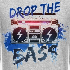 drop the bass Long Sleeve Shirts