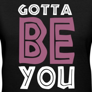 be_you_1_d Women's T-Shirts - Women's V-Neck T-Shirt