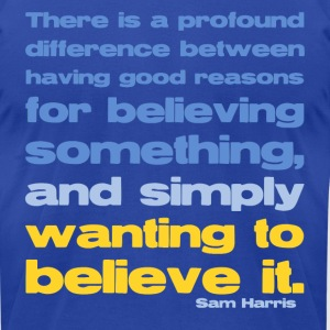 Sam Harris - Good Reasons For Believing - Men's T-Shirt by American Apparel