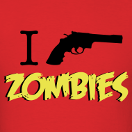 Design ~ Walking Dead - I Shoot Zombies - men short sleeve t-shirt