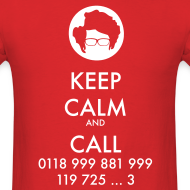Design ~ IT Crowd - Moss - Keep Calm and Call - men short sleeve