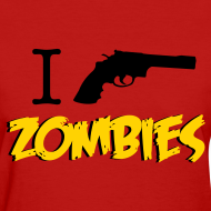 Design ~ Walking Dead - I Shoot Zombies - girl short sleeve t-shirt