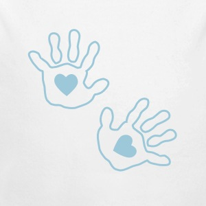 baby hands handprint heart Baby Bodysuits - Long Sleeve Baby Bodysuit
