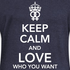 keep calm and love who you want - lesbian Long Sleeve Shirts