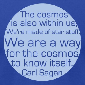 Carl Sagan - Pale Blue Dot - Men's T-Shirt by American Apparel