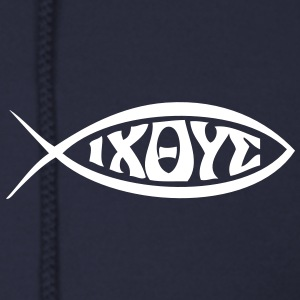 Jesus Fish - VECTOR Zip Hoodies/Jackets - Men's Zip Hoodie
