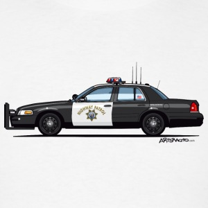 California Highway Patrol CHP Crown Vic (with Lightbar) - Men's T-Shirt
