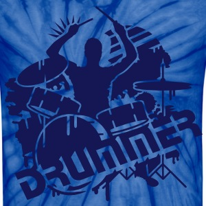 A drummer and his drums  T-Shirts - Unisex Tie Dye T-Shirt