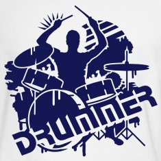 A drummer and his drums  Long Sleeve Shirts