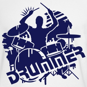 A drummer and his drums  Long Sleeve Shirts - Men's Long Sleeve T-Shirt