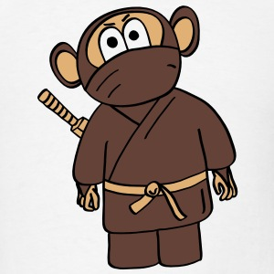 funny ninja monkey - Men's T-Shirt