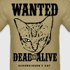 Schrödinger's Cat Wanted Poster - Men's T-Shirt