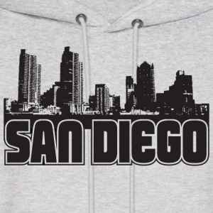 San Diego Skyline Hooded Sweatshirt - Men's Hoodie