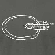 Design ~ Ham Infographic Men's Slim T-Shirt by American Apparel