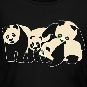 Pandas - Women's Long Sleeve Jersey T-Shirt