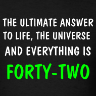 Design ~ HITCHHIKER'S GUIDE 42 T-SHIRT