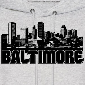 Baltimore Skyline Hooded Sweatshirt - Men's Hoodie