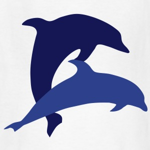 Dolphins and Heart Kids' Shirts - Kids' T-Shirt