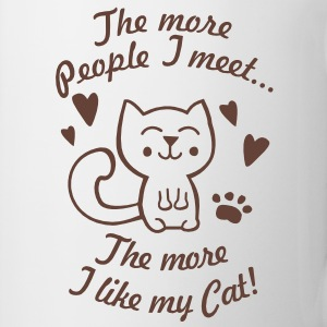 The more People I meet, the more I like my Cat Gift - Coffee/Tea Mug