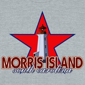 Morris Island Lighthouse Tri-Blend Vintage T-Shirt - Unisex Tri-Blend T-Shirt by American Apparel