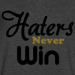haters_never_win T-Shirts - Men's V-Neck T-Shirt by Canvas