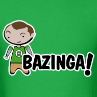 Design ~ sheldon big bang theory bazinga shirt