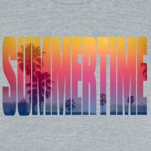 summertime T-Shirts - Unisex Tri-Blend T-Shirt by American Apparel