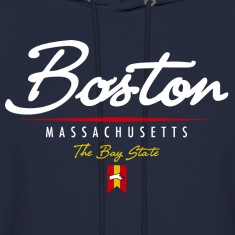 Boston Script Hooded Sweatshirt