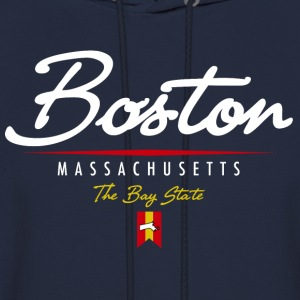 Boston Script Hooded Sweatshirt - Men's Hoodie