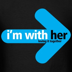 I'm With Her - Men's T-Shirt