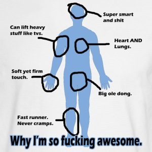 Why I'm so Fucking Awesome Long Sleeve Shirts - Men's Long Sleeve T-Shirt