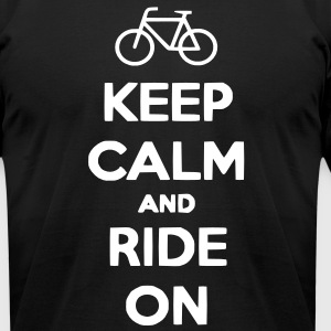 Keep Calm and Ride On Men's T-shirt - Men's T-Shirt by American Apparel