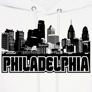 Philadelphia Skyline Hooded Sweatshirt - Men's Hoodie