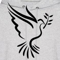 Dove with Branch - VECTOR Hoodies