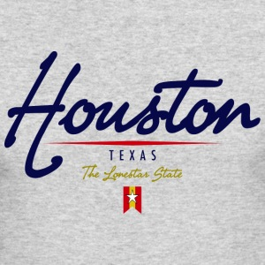 Houston Script American Apparel Long Sleeve T-Shirt - Men's Long Sleeve T-Shirt by Next Level