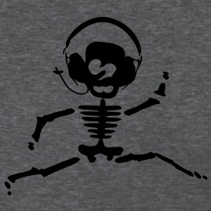 funny skull wearing headphones Women's Standard Weight T-Shirt - Women's T-Shirt
