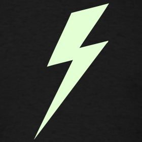 Design ~ Lightning Bolt - Glow in the dark shirt