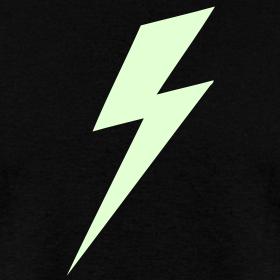 Design ~ Lightning Bolt - Glow in the dark shirt