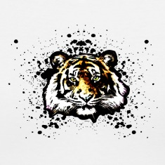 Orange Tiger Graffiti Spray Paint Splatter Unisex Graphic Design | Cool on tshirts and hoodie sweaters!