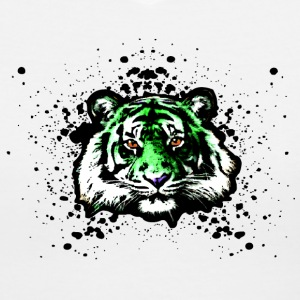 Green Tiger Graffiti Paint Splatter Unisex Graphic Design | Cool on tshirts and hoodie sweaters! - Women's V-Neck T-Shirt