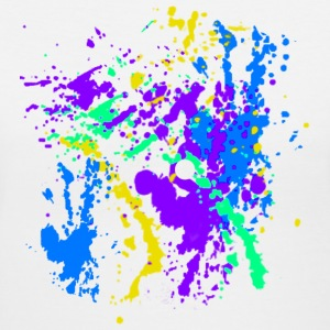 Paint Splatter Colorful Graffiti Graphic Design Picture - Cool tshirt and Hoodie Sweater! - Women's V-Neck T-Shirt