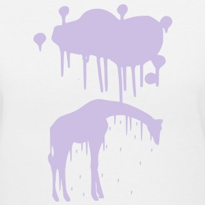 Giraffe Graffiti Style Graphic Design | Cool Picture for Tshirts and Hoodie Sweaters! - Women's V-Neck T-Shirt