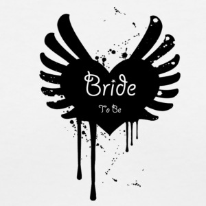Bride to Be - Winged Heart Paint Splatter Graffiti Inspired for the Edgy Bride! - Women's V-Neck T-Shirt