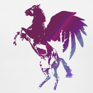 Horse - Pegasus with Wings in Purple and Blue Color! - Women's V-Neck T-Shirt
