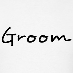 Groom Text Graphic | You can change the color of the Groom Graphic Text!