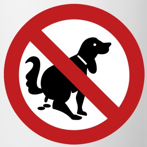 NO Dog Poop Sign - Coffee/Tea Mug