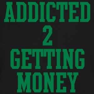 addicted_to_getting_money T-Shirts - Men's V-Neck T-Shirt by Canvas