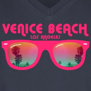 Venice beach los angeles T-Shirts - Men's V-Neck T-Shirt by Canvas