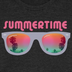 summertime sunglasses palms and beach T-Shirts