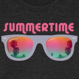 summertime sunglasses palms and beach T-Shirts - Unisex Tri-Blend T-Shirt